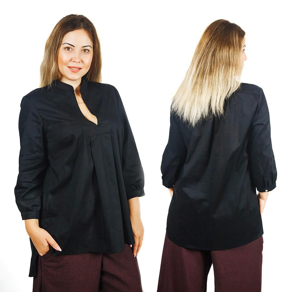 Черная блуза Липари