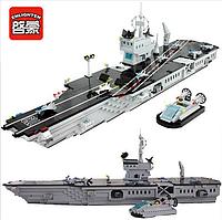 """Конструктор Brick 113 """"Венный корабль-Авианосец"""", 990 дет."""