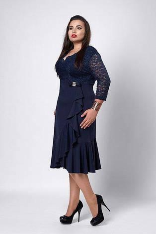 Ошатне вечірнє плаття з гіпюром увеличеных розмірів, фото 2