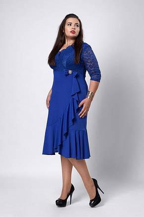 Нарядное вечернее платье с гипюром увеличеных размеров, фото 3