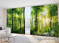 """Фото Шторы в зал """"Солнечный лес"""" 2,7м*2,9м (2 половинки по 1,45м), тесьма"""
