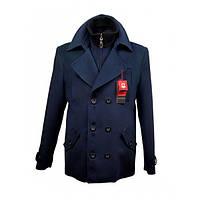 Мужское пальто Mia-style (50) синее М-311с
