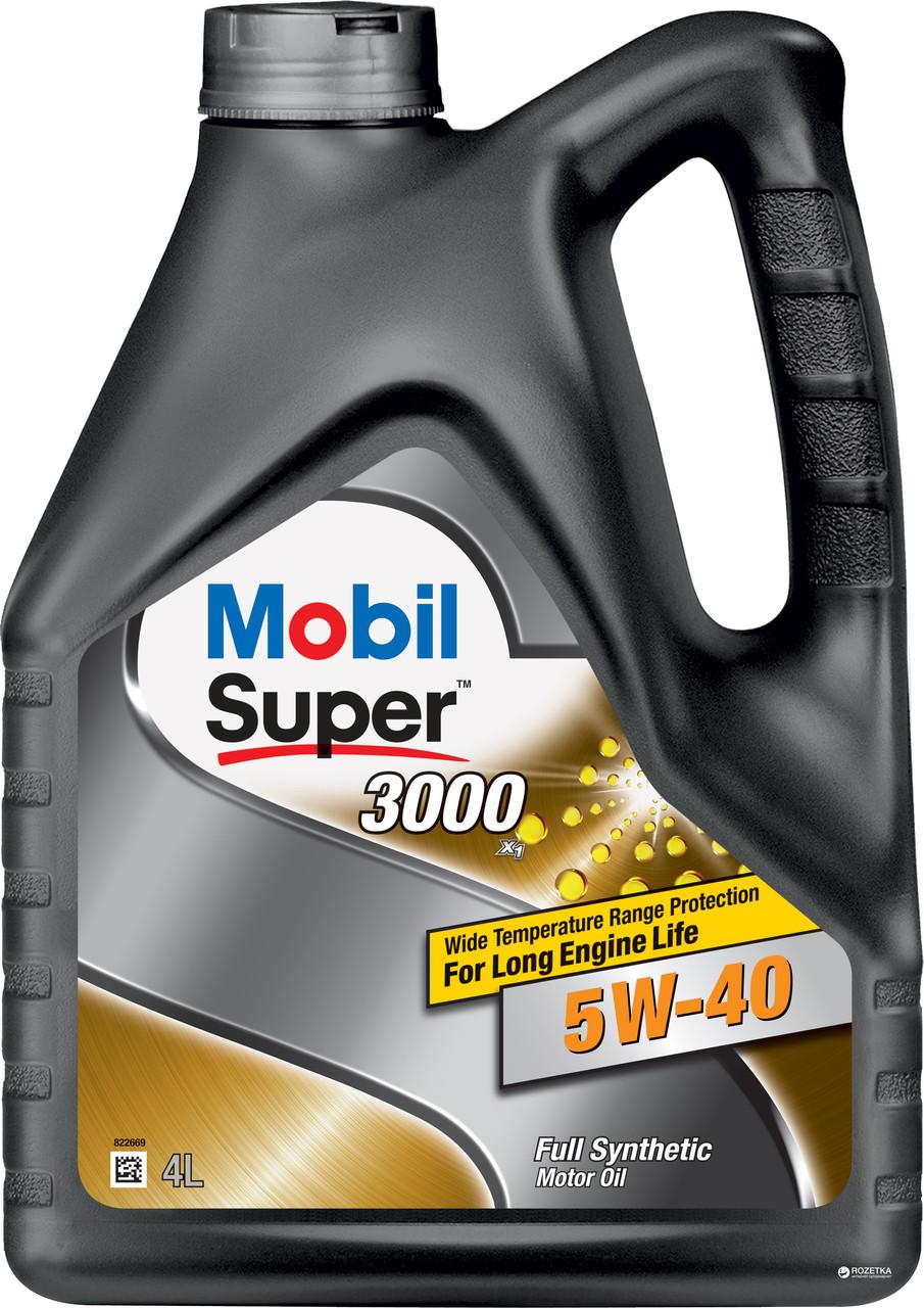 Моторное масло Mobil Super 3000 5W-40 4л