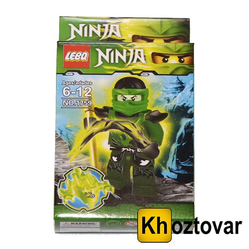 """Фігурка-конструктор для дітей від 6 до 12 років """" Ниндзяго. Ллойд"""" LEBQ Ninja №1759"""