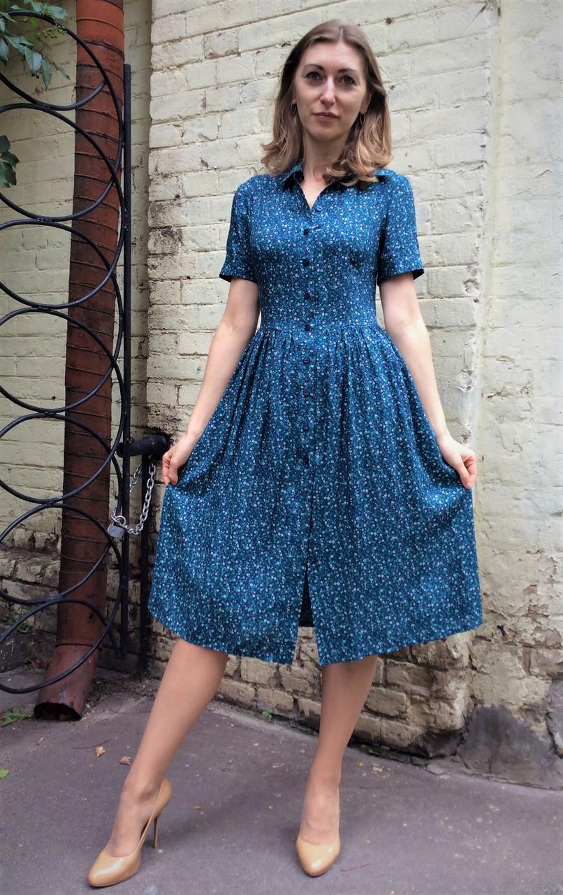 7c106689f076ef3 Платье миди с карманами из штапеля на пуговицах П200: продажа, цена ...