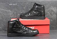 Женские кроссовки Nike Air Jordan черные высокие 3215