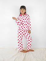 Махровая пижама на девочку 2-6 лет