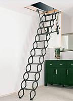 Металлическая раздвижная чердачная лестница FAKRO OST-B 80х70