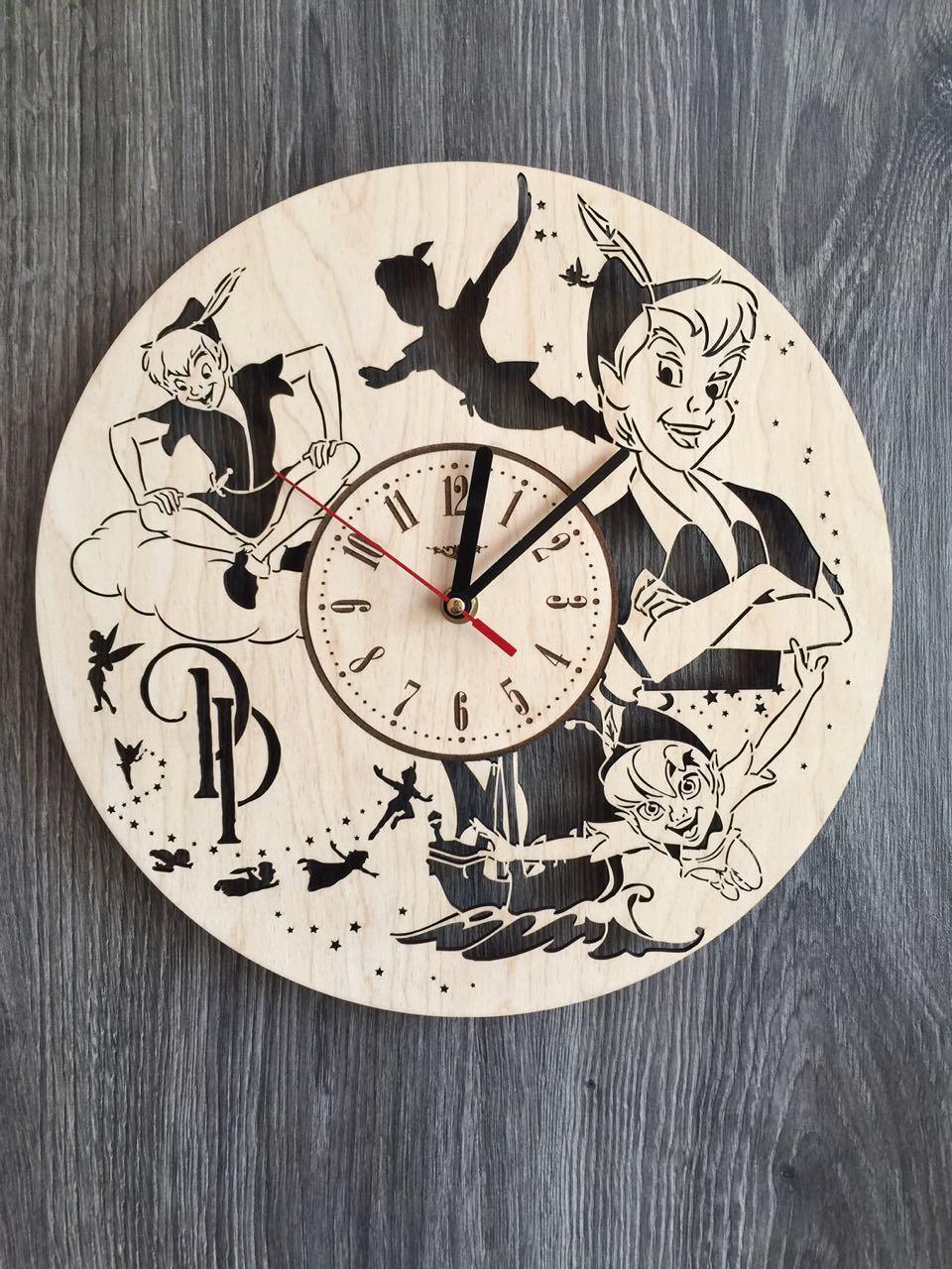 Детские настенные часы из дерева «Питер Пэн»