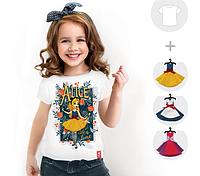 """Футболка детская со съёмными платьями """"Alice night"""""""