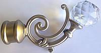 Бордо с кристаллом д. 25 мм, сатин