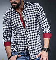 Рубашка на байке для мужчин в мелкую клетку