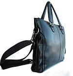 Мужская сумка-портфель. Мужской портфель. Стильный портфель., фото 3
