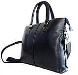 Мужская сумка-портфель. Мужской портфель. Стильный портфель., фото 4