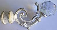 Бордо с кристаллом д. 25 мм, белое золото