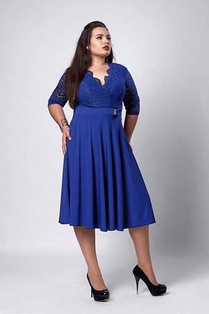 Красивое вечернее расклешенное платье увеличенных размеров , фото 2