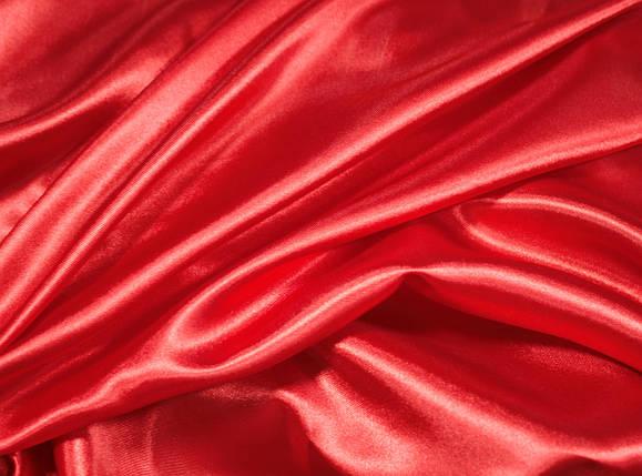 Ткань атлас красный, фото 2