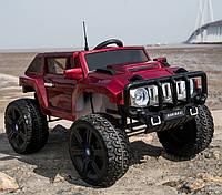 Детский электромобиль HUMMER BTL 388 на резиновых колёсах, кожа, автопокраска, красный