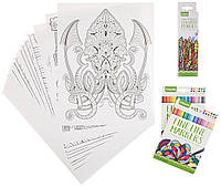Набор для рисования Crayola Adult Coloring Book & Marker Art Activity Set