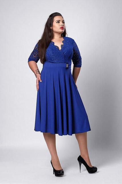 e92ef48617e Женское нарядное платье больших размеров бордового цвета  продажа ...