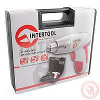 Отвертка аккумуляторная  INTERTOOL DT-0301
