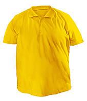 Футболка мужская поло большого размера желтого цвета