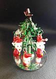 Ялинка новорічна, 8х5,5 см, декоративне скло, новорічний сувенір, Дніпропетровськ, фото 2