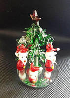 Елка новогодняя, 8х5,5 см, декоративное стекло, сувенир новогодний,  Днепропетровск