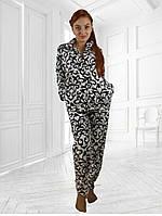 """Женская махровая пижама """"вензеля"""" размеры 42-54"""