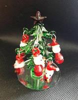 Елка новогодняя, декоративное стекло, 8х5,5 см, сувенир новогодний,  Днепропетровск
