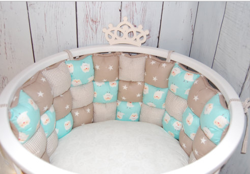 Бортики для круглой и овальной кроватки