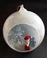 Шар новогодний, 8,5 см, декоративное стекло, сувенир новогодний, Днепропетровск, фото 1