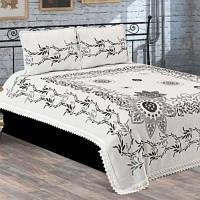 Покрывала на кровать и диван  и две наволочки 100% хлопок Турция  BTN 002 grey
