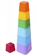 Детская игрушка Пирамидка тм ТехноК пластик