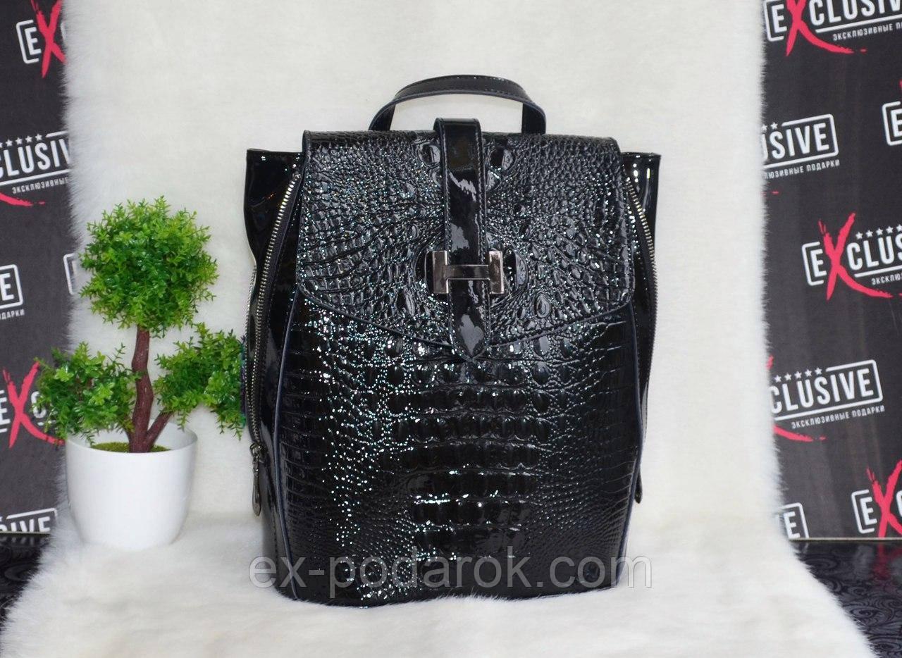 8d30f722b4e7 Кожаная женская сумка-рюкзак трансформер. - Интернет-магазин