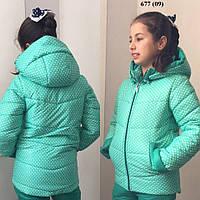Куртка теплая на девочку 677 (09)