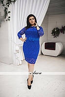 Платье нарядное гипюровое большого размера