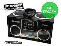 Радиоприемник радио ФМ FM с флешкой колонка цифровой ATLANFA AT-8973