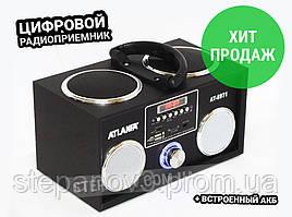 Радиоприемник радио ФМ FM с флешкой колонка цифровой USB ATLANFA AT-8971