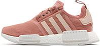Женские кроссовки Adidas Originals NMD Runner Womens Pink/White (Адидас НМД) розовые