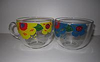 Стеклянная кружка Яркие цветы на 500 мл Gallery Glass 80003498