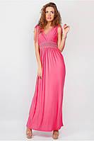 Платье длинное Красота фуксия №19PG028