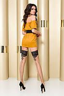 Кружевные чулки Passion ST103 beige
