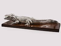 Статуэтка Exetera Крокодил аллигатор серебро