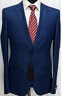 Светло-синий мужской костюм в клетку Luco Tone