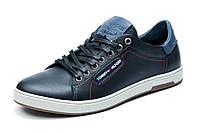 Туфли мужские Hilfiger Denim, спортивные, натуральная кожа, темно-синие, р. 40 41 42 43 44 45