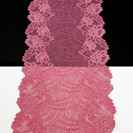 Кружево Италия арт. 30 розовое, шир 18 см, фото 2
