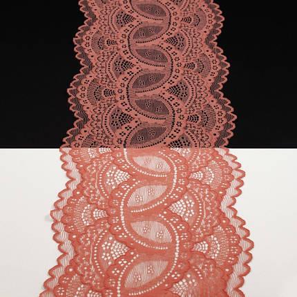 Кружево Италия арт. 55 коралловое, шир 14 см, фото 2