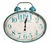 Большие металлические часы будильник