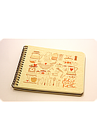 "Кулинарная книга ""Cookbook"" + комплект наклеек"